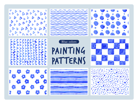 Blue hand-drawn pattern