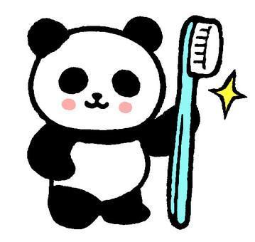 Tooth brush panda