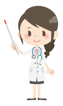 Female doctor * Answer · commentary 04