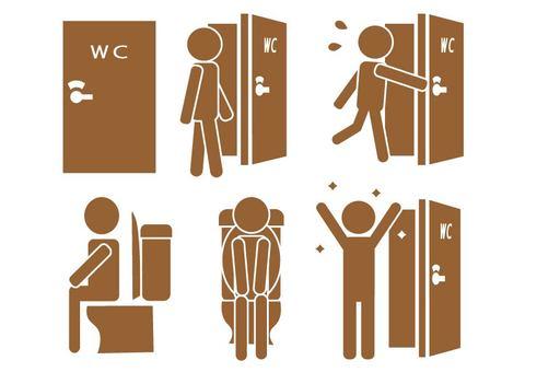 廁所人像形圖