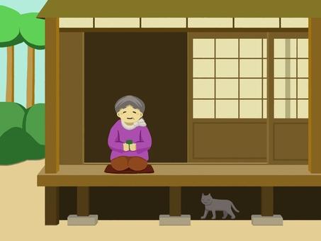 Granny on the veranda