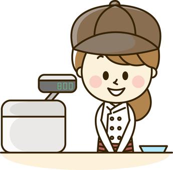 Seller of food shop Woman 2-5 Register