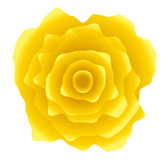 Jagged realistic yellow rose icon material
