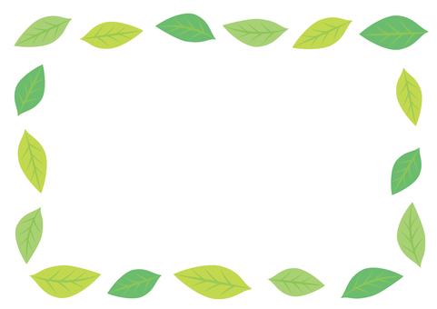 Green leaf frame 15