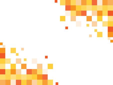 背景_モザイクタイル(オレンジ・白背景)