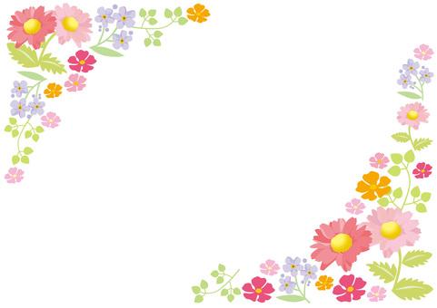 Bahar çiçek çerçeve 3