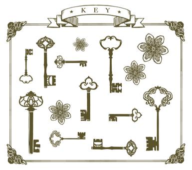 열쇠 키 꽃 바구니 01