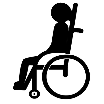 Pictogram reclining wheelchair