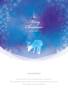 Winter background frame 031 Xmas watercolor