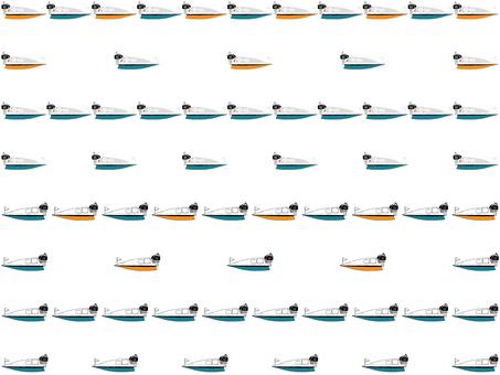 競艇ボート罫線(交互)