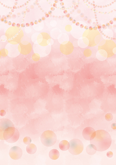 Round party background pink vertical