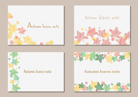 Autumn leaves message card