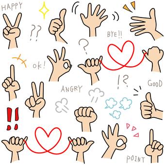 Hand doodle set