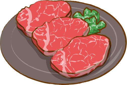 For beef fillet steak