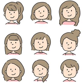 Women illustration set