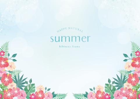 Summer background frame 061 hibiscus