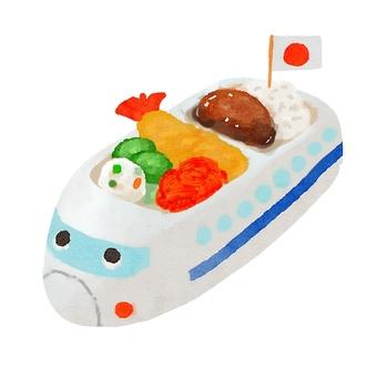 Watercolor food series children's lunch