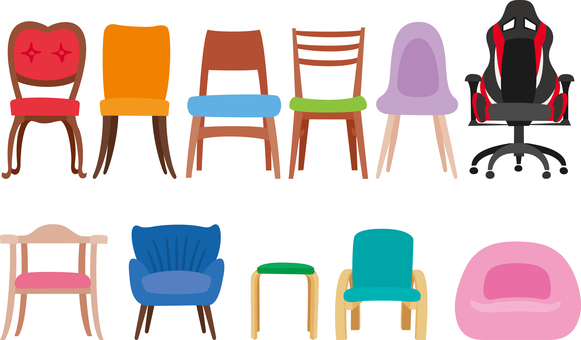 Interior Set of various chairs