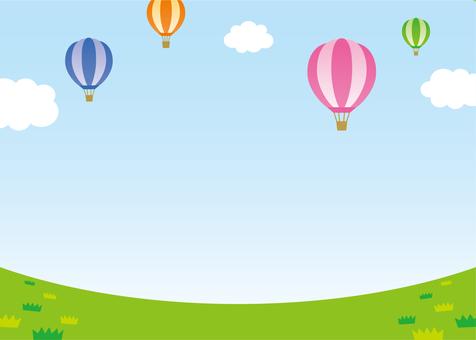 Balloon sky ground