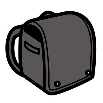 Black school bags thick line simple