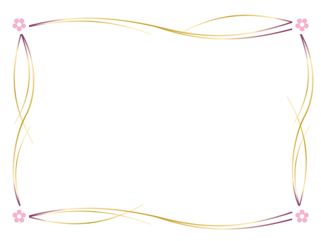 Simple gold and purple frame