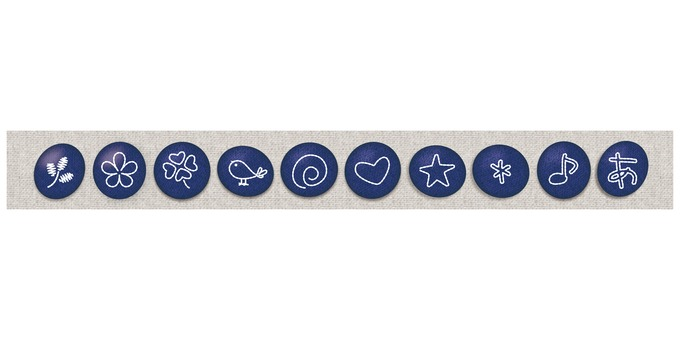 Embroidery decoration button illustration