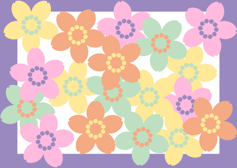 Cute spring (purple frame)