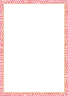 Frame of Kozakura pattern (pink color)