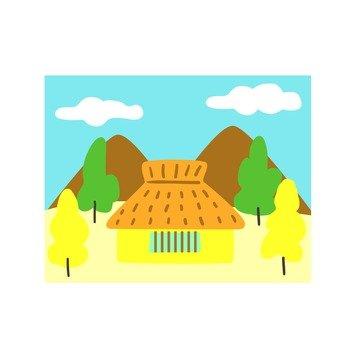 Autumn house icon 1