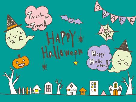 Halloween ghosts (color)