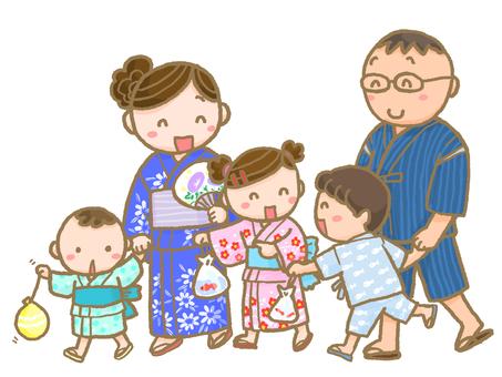 여름 축제의 가족