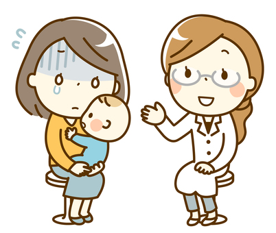 Infant examination consultation