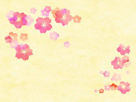 桜 background and paper wind 3
