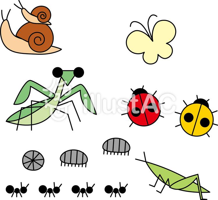 昆虫のイラストイラスト No 1171242無料イラストならイラストac