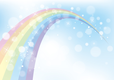 Rainbow and sky background material 02