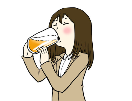 A woman drinking alcohol
