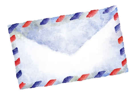 Envelope watercolor painting · Air mail