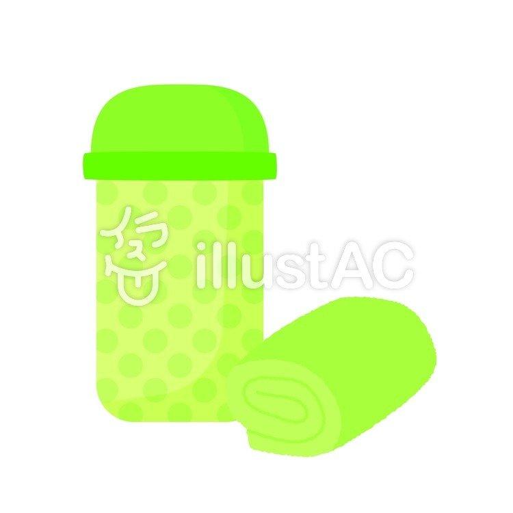 水筒とおしぼりイラスト No 852592無料イラストならイラストac