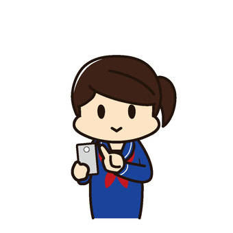 Female student smartphone