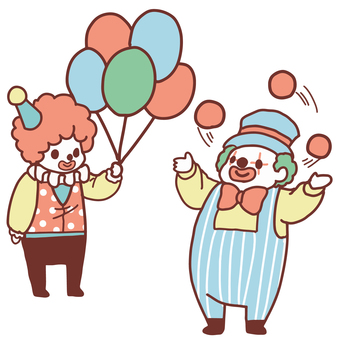Two clowns