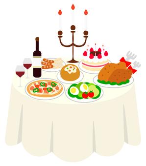パーティー 食事テーブル