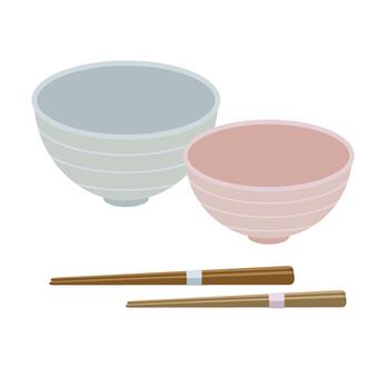 Couple couple and couple chopsticks