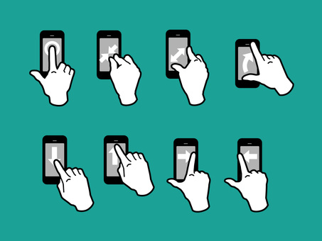 Hand, finger, gesture to operate smartphone 02