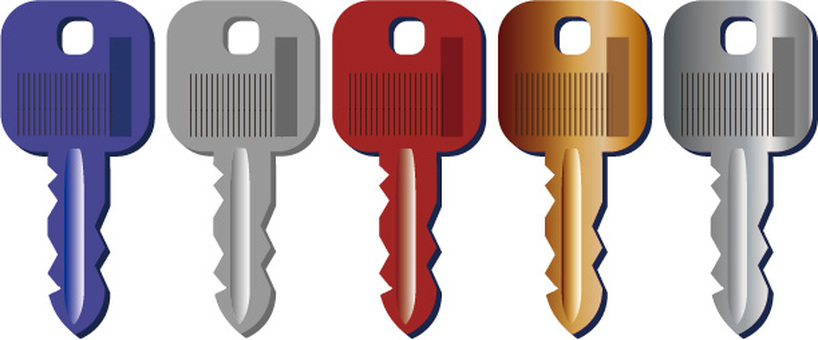 5-color key