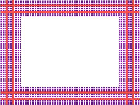 優雅的紅色線框