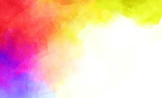 名刺 水彩 絵の具 カード バナー 虹色