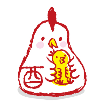 Rooster stamp 5