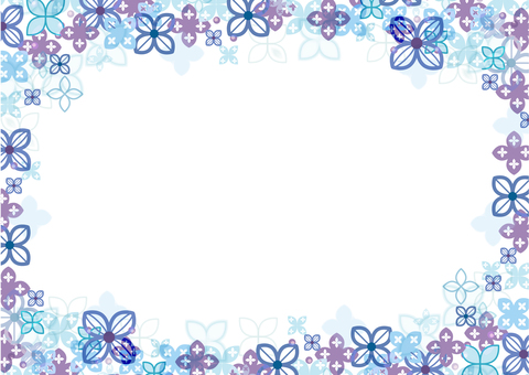 Flower decoration frame 22