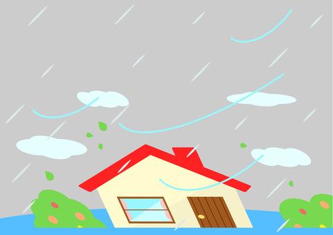 家 庭 暴風雨 洪水