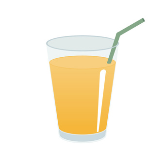 Orange juice ice No straw available